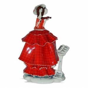 Коллекционная фарфоровая статуэтка Скрипачка