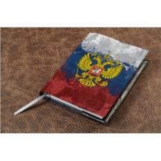 Кожаный ежедневник Герб и флаг РФ