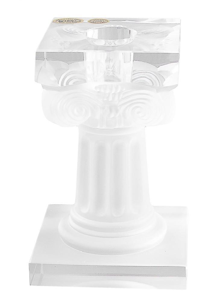 Хрустальный подсвечник Колонна, белый