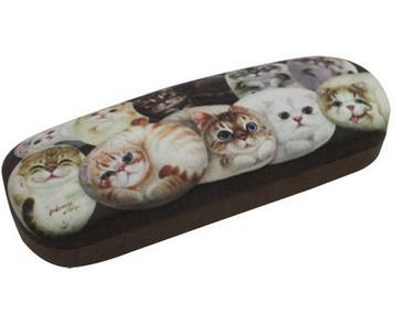 Очечник «Кошки Генри» с тряпочкой для протирания очков
