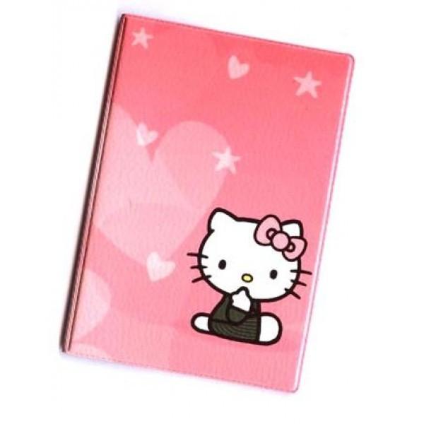 Обложка на паспорт Китти с сердечками