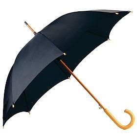 Зонт UNIT STANDART с деревянной ручкой, черный