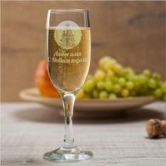 Бокал для шампанского Новогодняя ёлка