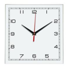 Белые настенные квадратные часы