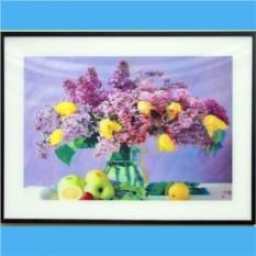 Картина Сирень с желтыми тюльпанами