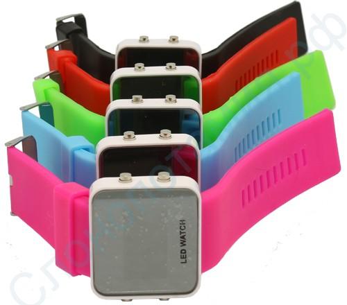 Наручные зеркальные часы Led Watch (цветные)