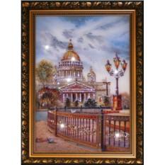 Картина с кристаллами Swarovski Исаакиевский собор