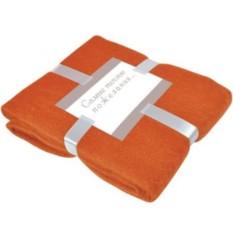 Оранжевый плед Mohair с подарочной открыткой