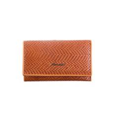 Женский рыжий кожаный кошелек Barkli