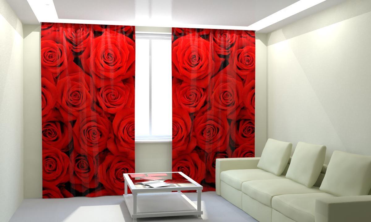 Фотошторы Красные розы