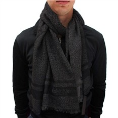 Классический зимний черный шарф для мужчины Calvin Klein