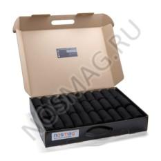 Кейс черных носков из мерсерезированного хлопка (30 пар)