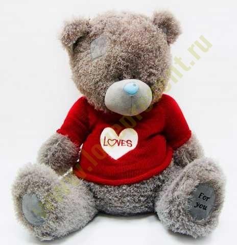 Мягкая игрушка Медведь в кофте Loves