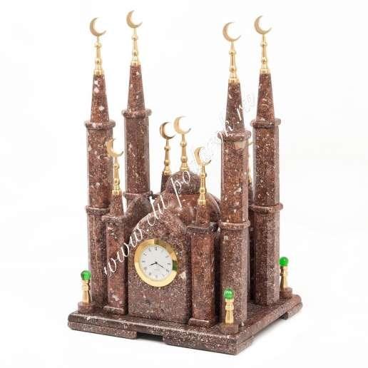 Часы из натурального камня Мечеть малая