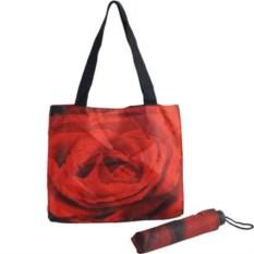 Подарочный набор Роза: сумка и складной зонт
