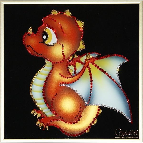 Картина Swarovski Дракоша