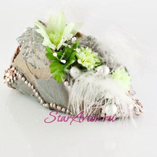 Новогодняя дизайнерская композиция Флористическая сумочка
