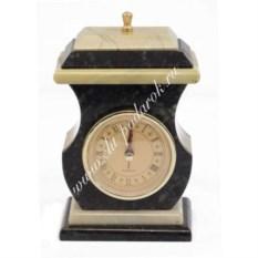 Часы из офиокальцита со шкатулкой Ретро