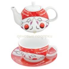 Чайный набор Веселый Санта в подарочной коробке