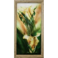 Картина с кристаллами Сваровски Желтые каллы