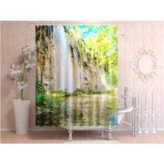 Штора для ванной Зеленый водопад