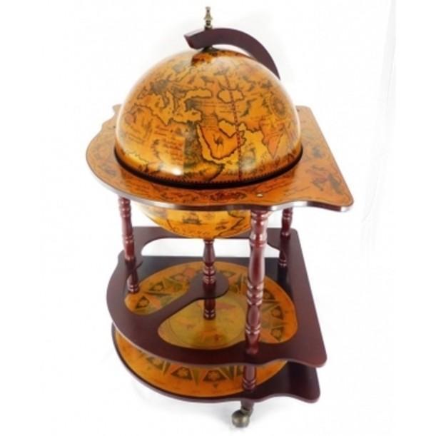 Угловой напольный глобус-бар
