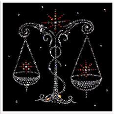 Картина с кристаллами Swarovski Весы