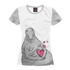 Женская футболка Ждун любви