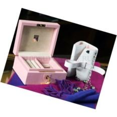 Розовая шкатулка для драгоценностей Aspinal of London