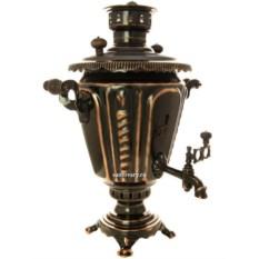 Угольный самовар на 5 литров Конус (рифленый под старину)