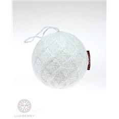 Декоративный шар Snowberry, белый-серебро