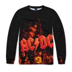 Мужской свитшот с полной запечаткой AC/DC