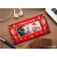 Шоколадная открытка Новогоднее предсказание