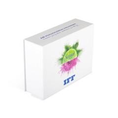 Подарочная кашированная коробка с клапаном на магните