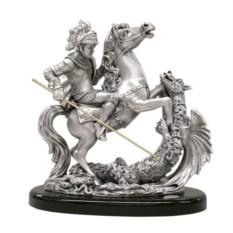 Серебряная скульптура Георгий Победоносец