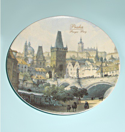 Сувенирная тарелочка Прага