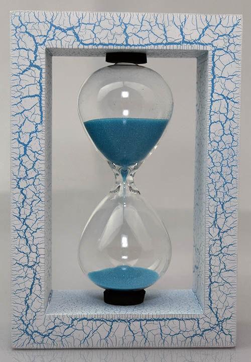 Песочные часы Паутинка, голубые