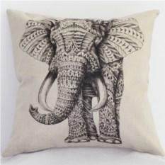Декоративная наволочка Слон