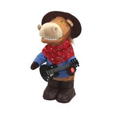 Мягкая игрушка Конь-ковбой с гитарой