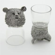 Набор рюмок-перевертышей с литыми головами Медведь