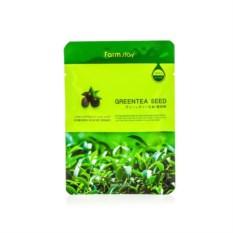 Тканевая маска для лица c экстрактом семян зеленого чая