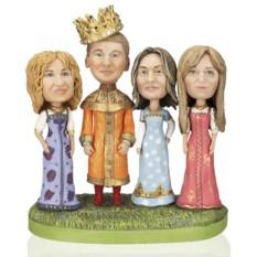 Статуэтка по фото молодой семье «Царевичи – королевичи»