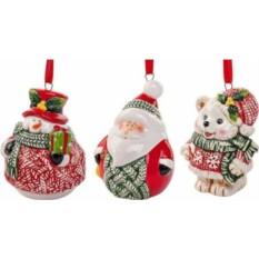 Набор елочных украшений Дед Мороз с друзьями