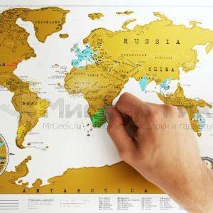 Карманная скрэтч-карта мира (на английском)
