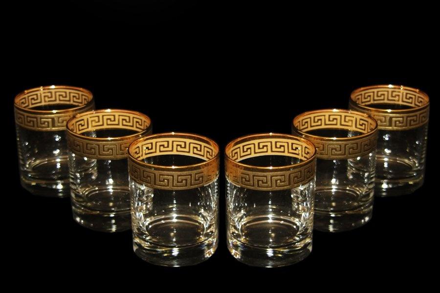 Набор 6  стаканов для виски Fumo Версаче, золото