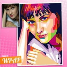 Портрет в стиле WPAP на холсте по фото