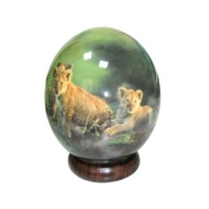 Яйцо страусиное «Львята»