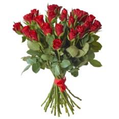 Букет из 25 красных роз 40 см