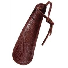 Кожаная коричневая ложка для обуви