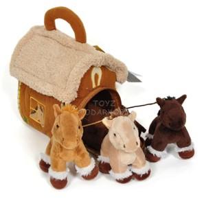 Игрушка «Домик с 3-мя лошадками»